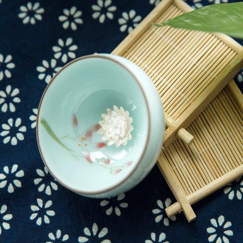 青瓷斗笠杯